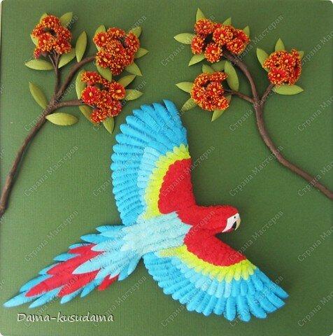 поделок в виде попугая