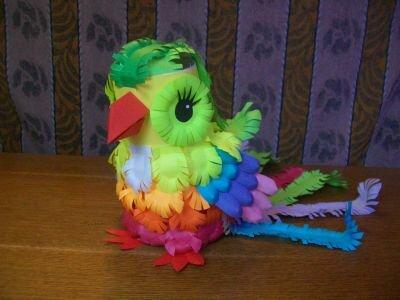 Как сделать попугая своими руками